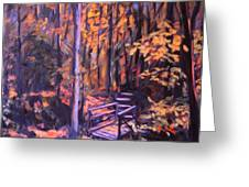 Bridge In Woods Near Pandapas Greeting Card