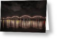 Bridge Lights Greeting Card