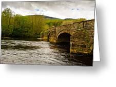 Bridge Near Cymer Abbey Greeting Card