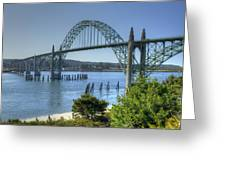 Bridge Newport Or 1 B Greeting Card