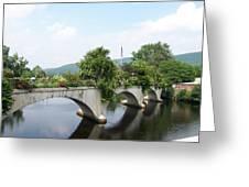 Bridge Of Flowers In Shelburne Greeting Card