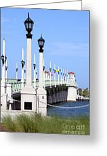 Bridge Of Lions St Augustine Florida Greeting Card