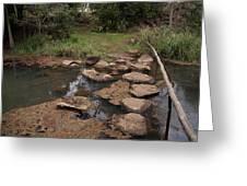 Bridge Of Rocks Across The River Greeting Card