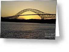 Bridge Of The Americas Panama Greeting Card