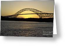 Bridge Of The Americas Panama Greeting Card