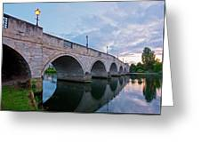 Bridge Of The River Thames At Chertsey Greeting Card
