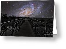 Bridge On A Distant Planet Greeting Card