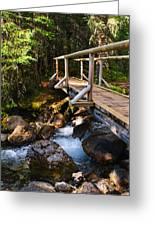 Bridge Over A Mountain Stream Greeting Card