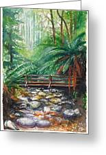 Bridge Over Badger Creek Greeting Card