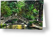 Bridge Over Greeting Card by Cary Shapiro
