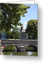 Bridge Over Chateau Moat Greeting Card