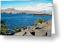 Bridge Over Columbia River At Umatilla-or  Greeting Card