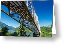 Bridge Over Columbia River Greeting Card