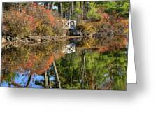 Bridge Over Fall Waters Greeting Card