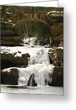 Bridge Over Frozen Water Greeting Card
