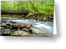 Bridge Over Little Pigeon River Greeting Card