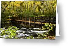 Bridge Over Oconaluftee Greeting Card