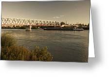 Bridge Over Rhein River Greeting Card