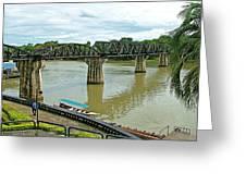 Bridge Over River Kwai In Kanchanaburi-thailand Greeting Card