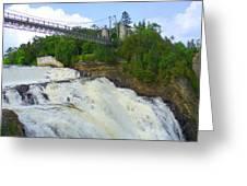 Bridge Over Rushing Water Greeting Card