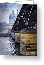 Bridge Over Seine In Paris Greeting Card