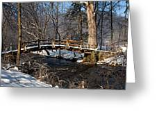 Bridge Over Snowy Valley Creek Greeting Card