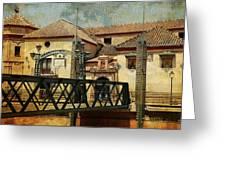Bridge Over The River Guadalmedina In Malaga I. Spain Greeting Card