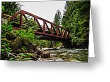 Bridge Over The Snoqualmie River - Washington Greeting Card