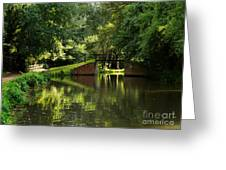 Bridge Over The Wey Navigation In Surrey Greeting Card