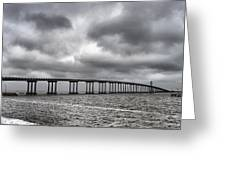 Bridge Over Water Greeting Card