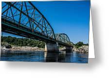 Bridge The Gap Greeting Card