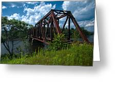 Bridge To A Time Gone By Greeting Card