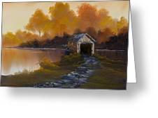 Covered Bridge In Fall Greeting Card