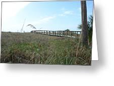 Bridge To Dreams Greeting Card by Julie Cameron
