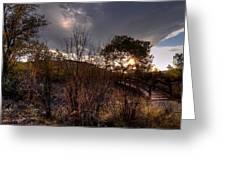 Bridge To Sunset Greeting Card