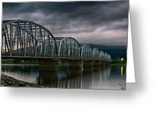 Bridge To Teslin Greeting Card