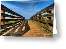 Bridge To The Beach Greeting Card