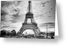 Bridge To The Eiffel Tower Greeting Card by John Wadleigh