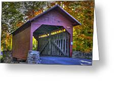 Bridge To The Past Roddy Road Covered Bridge-a1 Autumn Frederick County Maryland Greeting Card