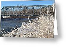 Bridge To Winter Greeting Card