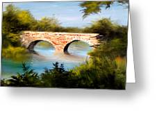 Bridge Under El Dorado Lake Greeting Card by Robert Carver
