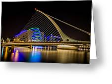 Samuel Beckett Bridge Dublin Greeting Card