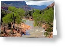 Bridge View Of The Virgin River Greeting Card