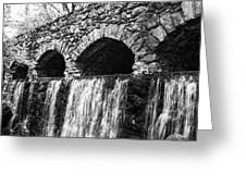 Bridge Water Greeting Card by Kenneth Feliciano