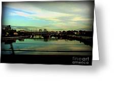 Bridge With White Clouds Greeting Card