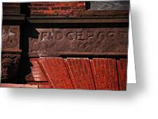 Bridgeport In Stone Greeting Card