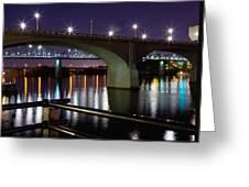 Bridges At Night Greeting Card