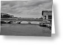 Bridges In Paris Greeting Card