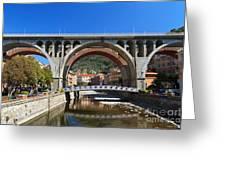 bridges in Sori Greeting Card