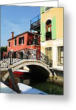 Bridges Of Venice Greeting Card